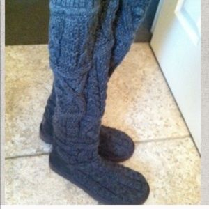 Gray knit over the knee ugh boots